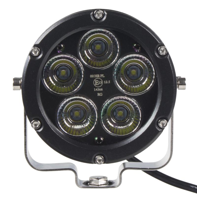 LED světlo na pracovní stroje kulaté, 10-30V, ECE R112, rozptýlený paprsek