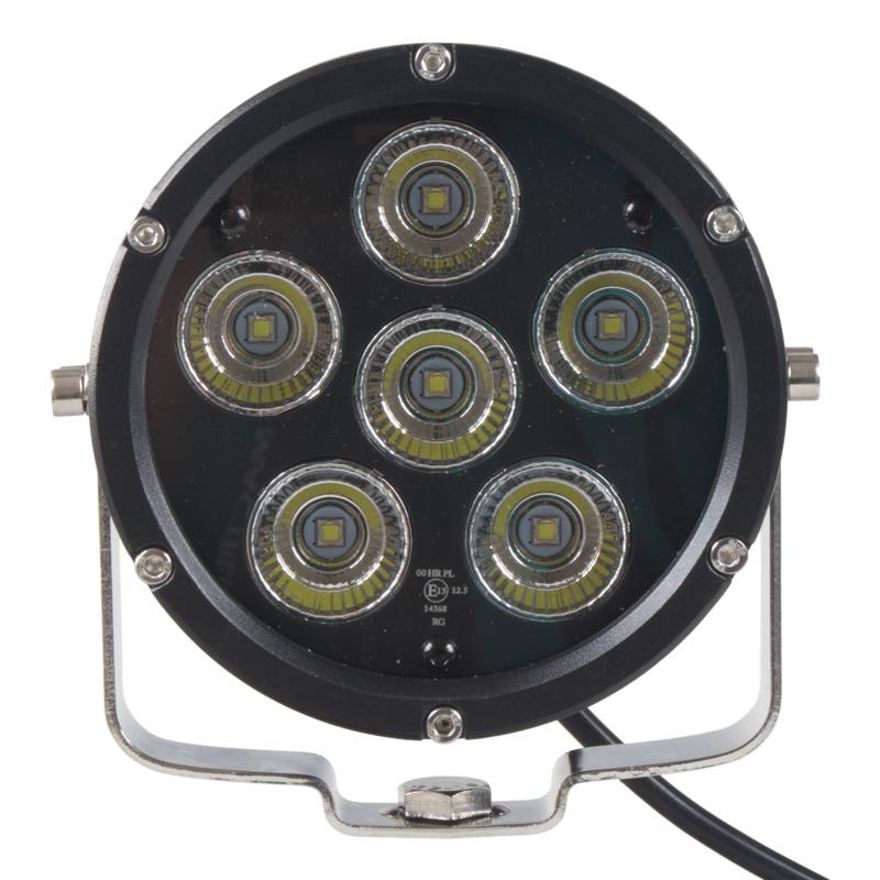 LED světlo kulaté, 6x10W, ø125mm, R112