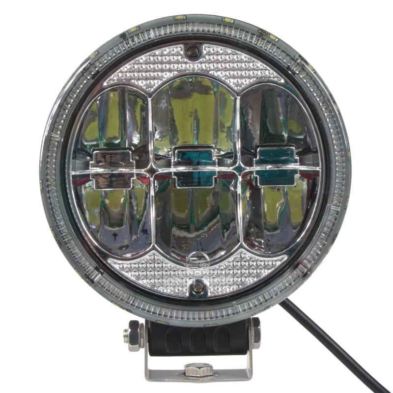 LED světlo přídavné/pracovní kulaté, 10-30V, ECE R112