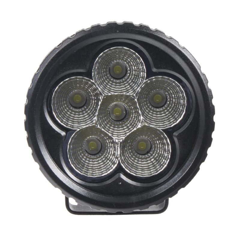 LED světlo na pracovní stroje kulaté 10-30V, 6 x 3W