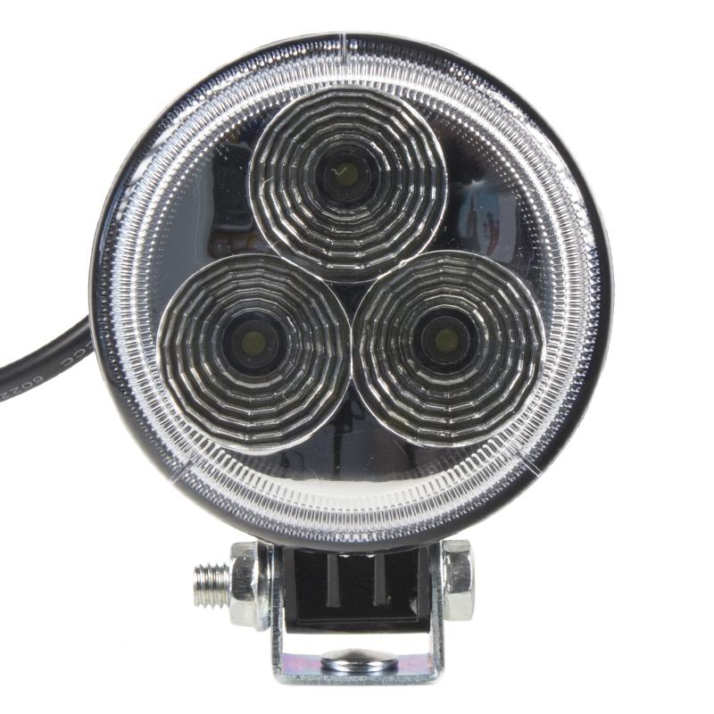 LED světlo na pracovní stroje kulaté 10-30V, 3 x 3W