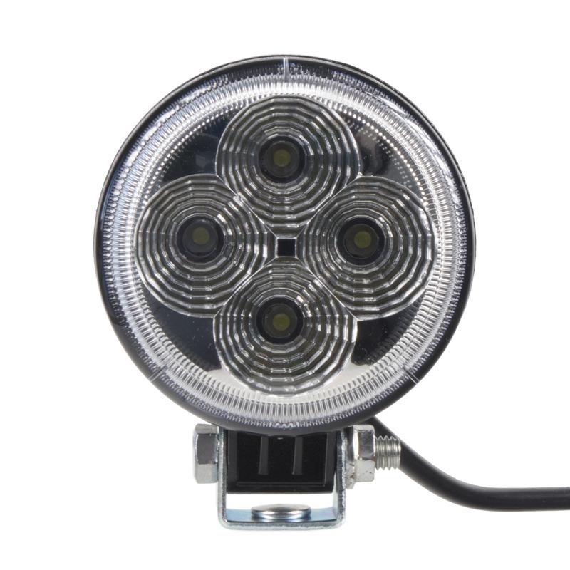 LED světlo na pracovní stroje kulaté 10-30V, 4 x 3W