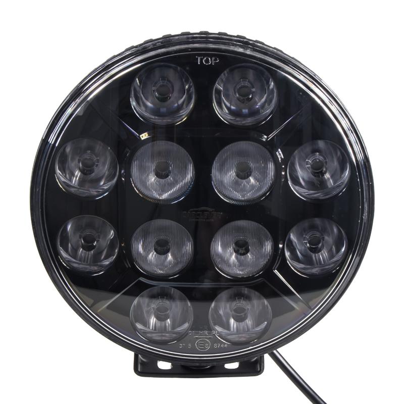 LED světlo kulaté, 12x10W, ø218mm, ECE R7/R10/R112