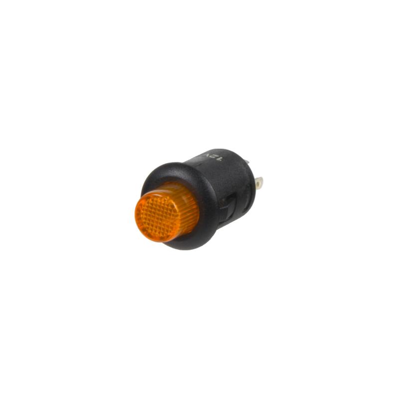 Spínač kulatý 6A oranžová LED