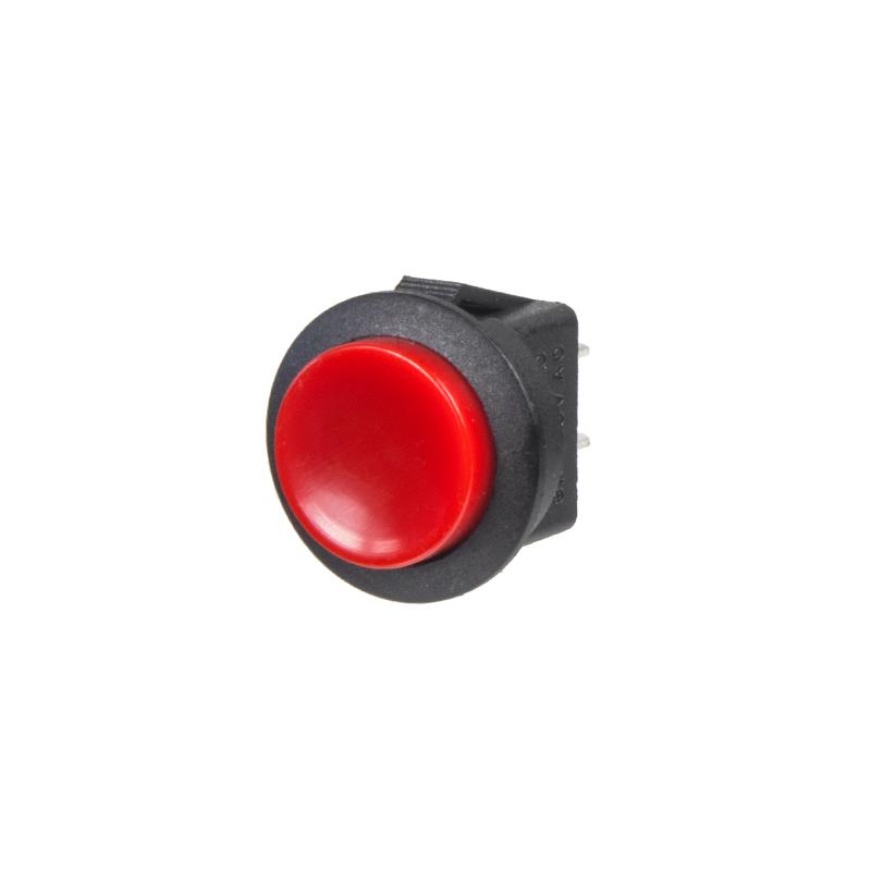 Tlačítko velké kulaté červené