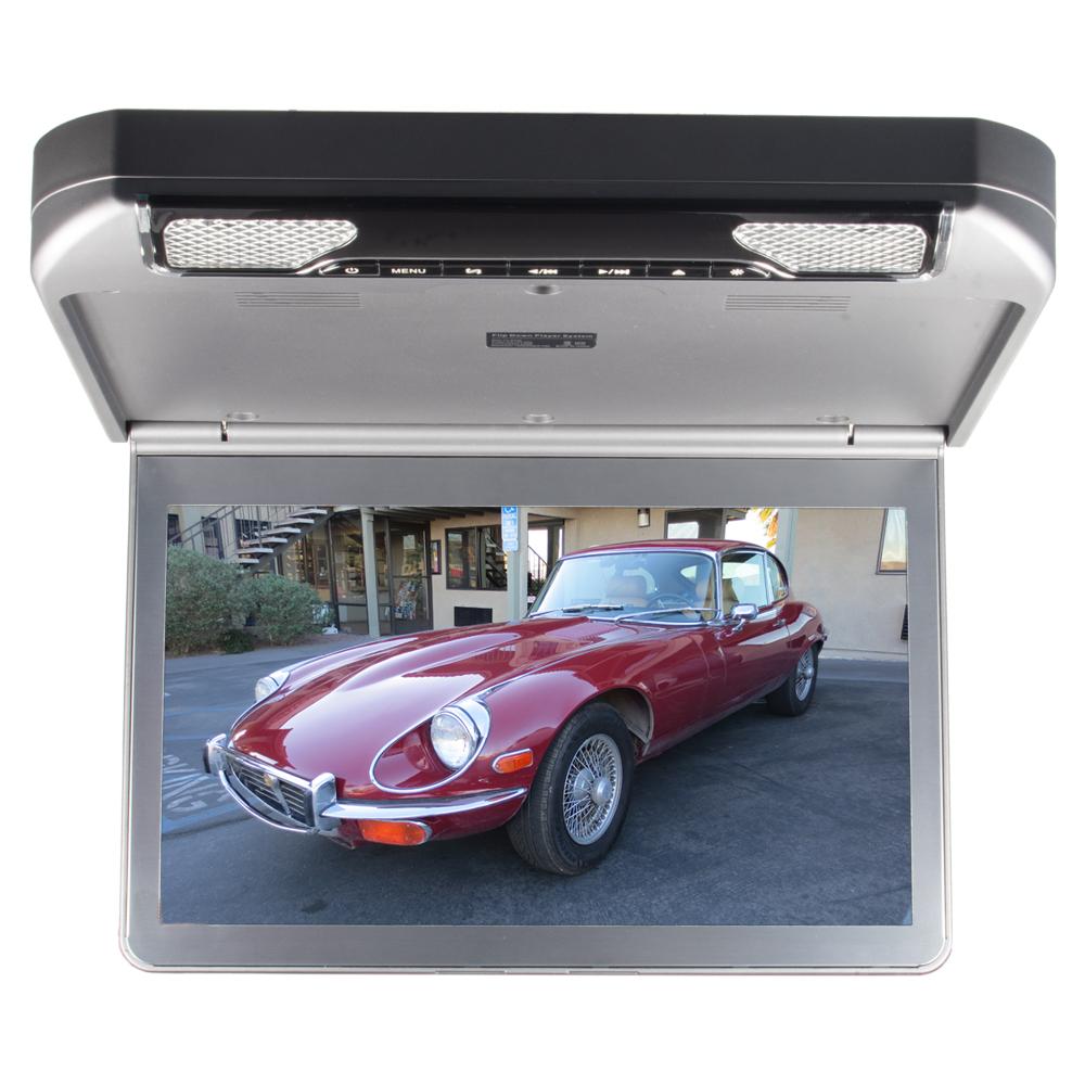 """Stropní monitor 13,3"""" šedý s DVD/SD/USB/IR/FM/HDMI"""