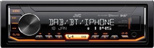 JVC DAB / FM autorádio bez mechaniky/Bluetooth/USB/AUX/odním.panel