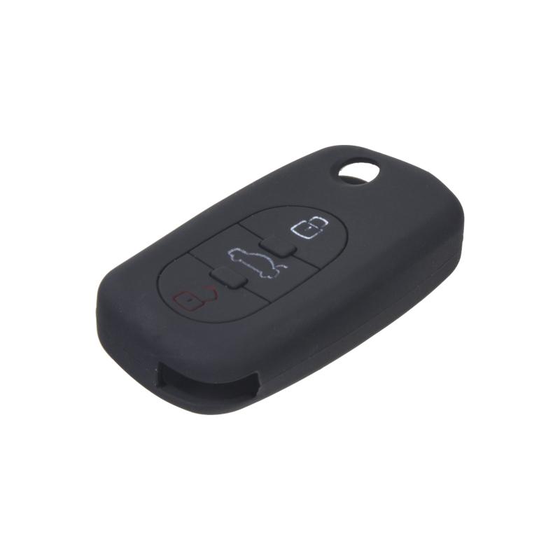 Silikonový obal pro klíč Audi 3-tlačítkový, černý