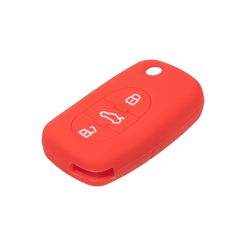 Silikonový obal pro klíč Audi 3-tlačítkový, červený