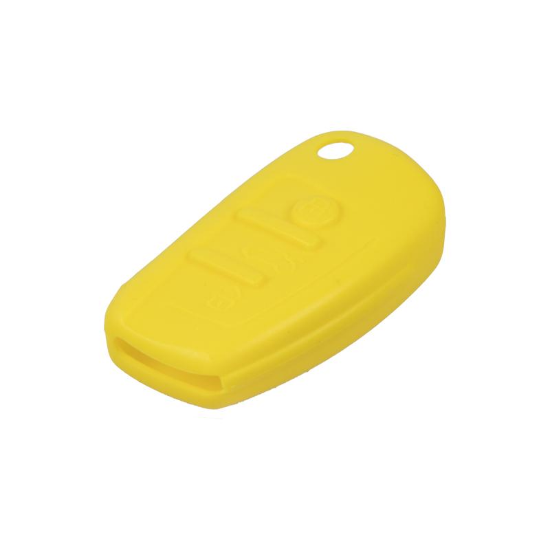 Silikonový obal pro klíč Audi 3-tlačítkový, žlutý