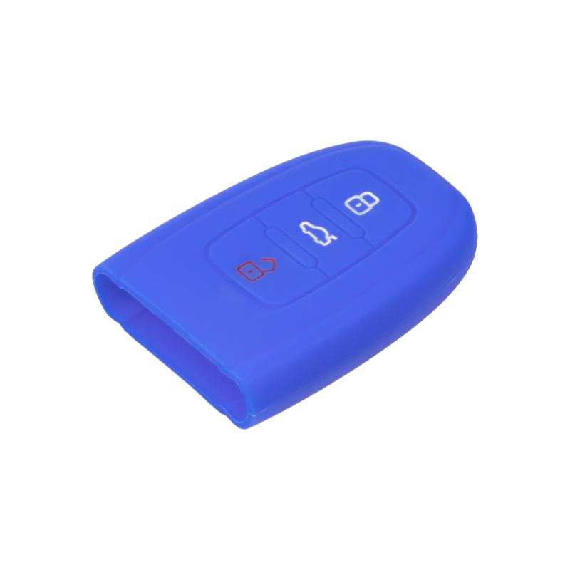 Silikonový obal pro klíč Audi 3-tlačítkový, modrý