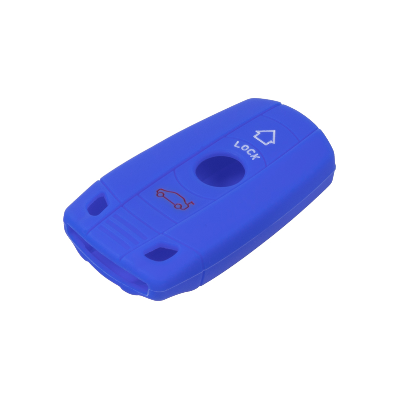 Silikonový obal pro klíč BMW 1/3/5/6/X1/X5/X6/Z4 modrý