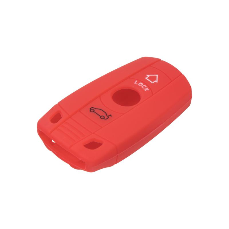 Silikonový obal pro klíč BMW 1/3/5/6/X1/X5/X6/Z4 červený