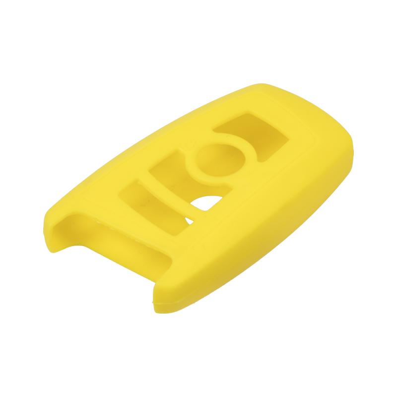 Silikonový obal pro klíč BMW 5, 7 3-tlačítkový, žlutý