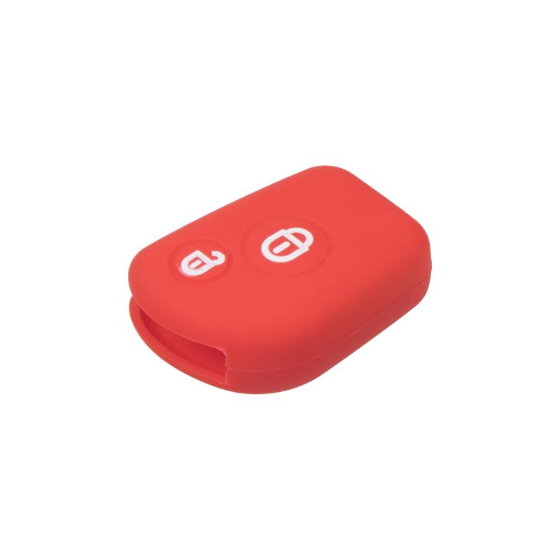 Silikonový obal pro klíč Citroën 2-tlačítkový, červený