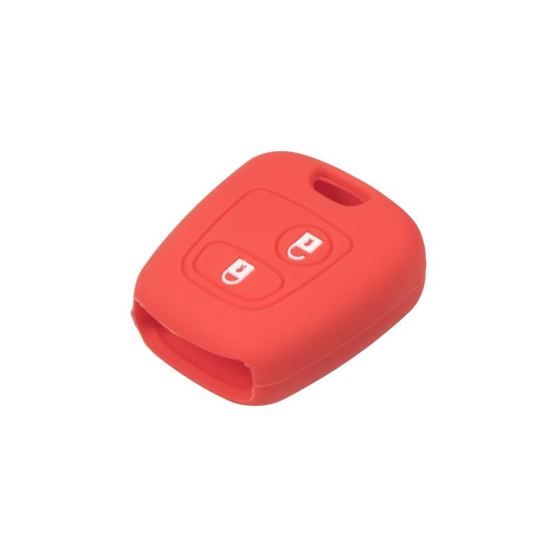 Silikonový obal pro klíč Citroen 2-tlačítkový, červený