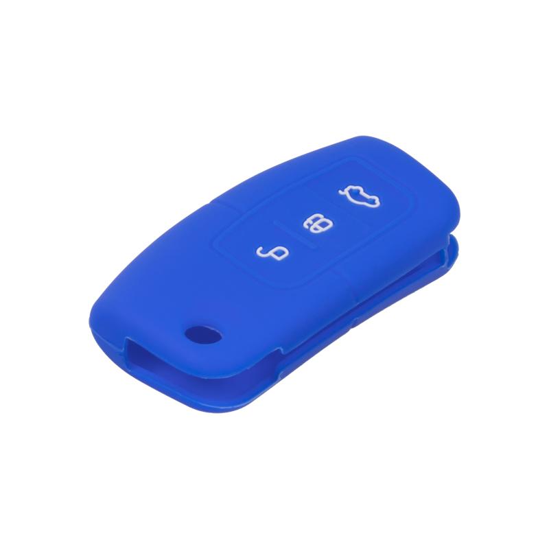 Silikonový obal pro klíč Ford 3-tlačítkový, modrý