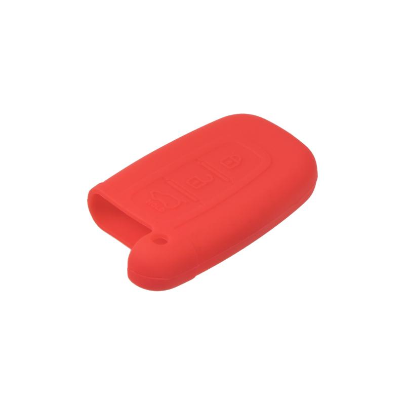 Silikonový obal pro klíč Kia Sorento, Sportage, Hyundai ix35, Sonata 3-tlačítkový, tmavě červený