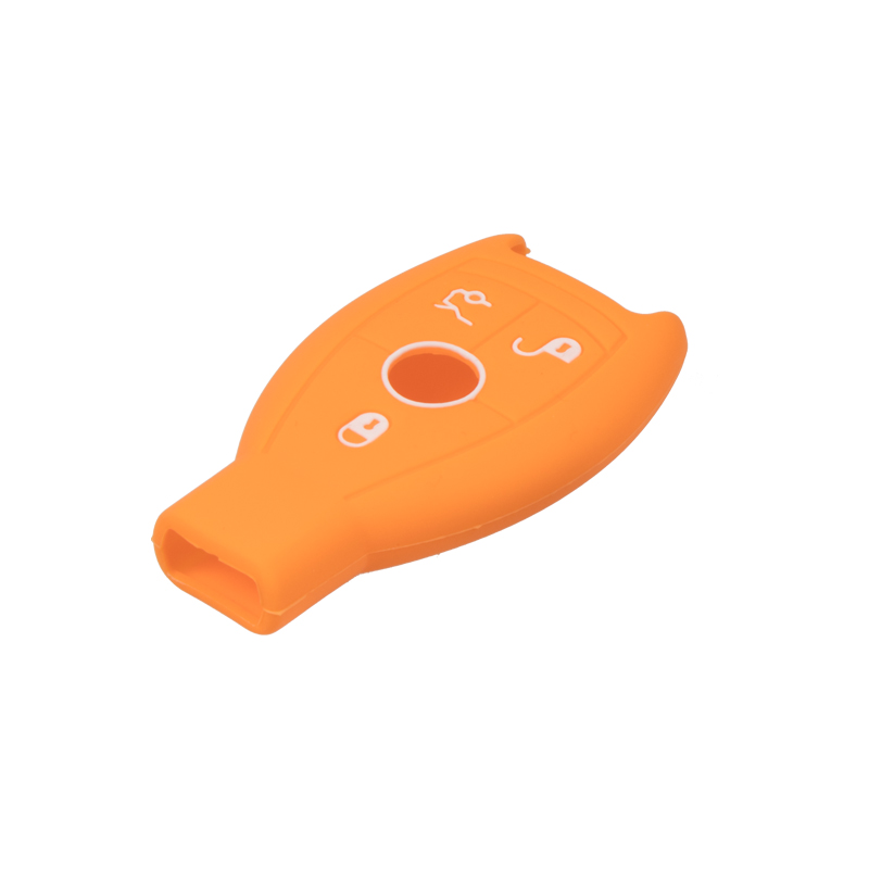 Silikonový obal pro klíč Mercedes 3-tlačítkový, oranžový