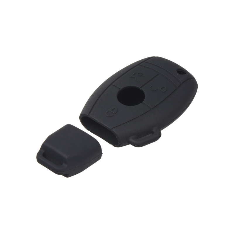Silikonový obal pro klíč Mercedes 3-tlačítkový, černý