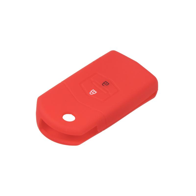 Silikonový obal pro klíč Mazda 6, 5, 3, 2, 2-tlačítkový, červený