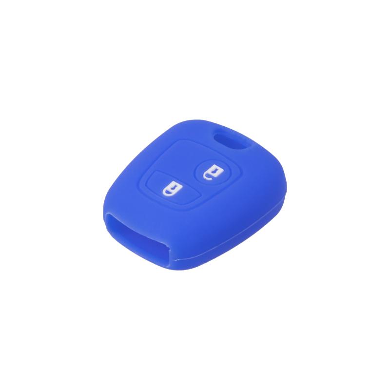 Silikonový obal pro klíč Peugeot, Citroën, 2-tlačítkový, modrý