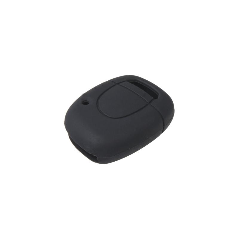 Silikonový obal pro klíč Renault, 1-tlačítkový, černý