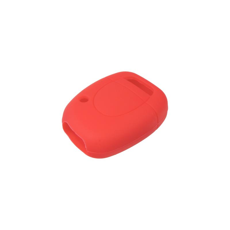Silikonový obal pro klíč Renault, 1-tlačítkový, červený