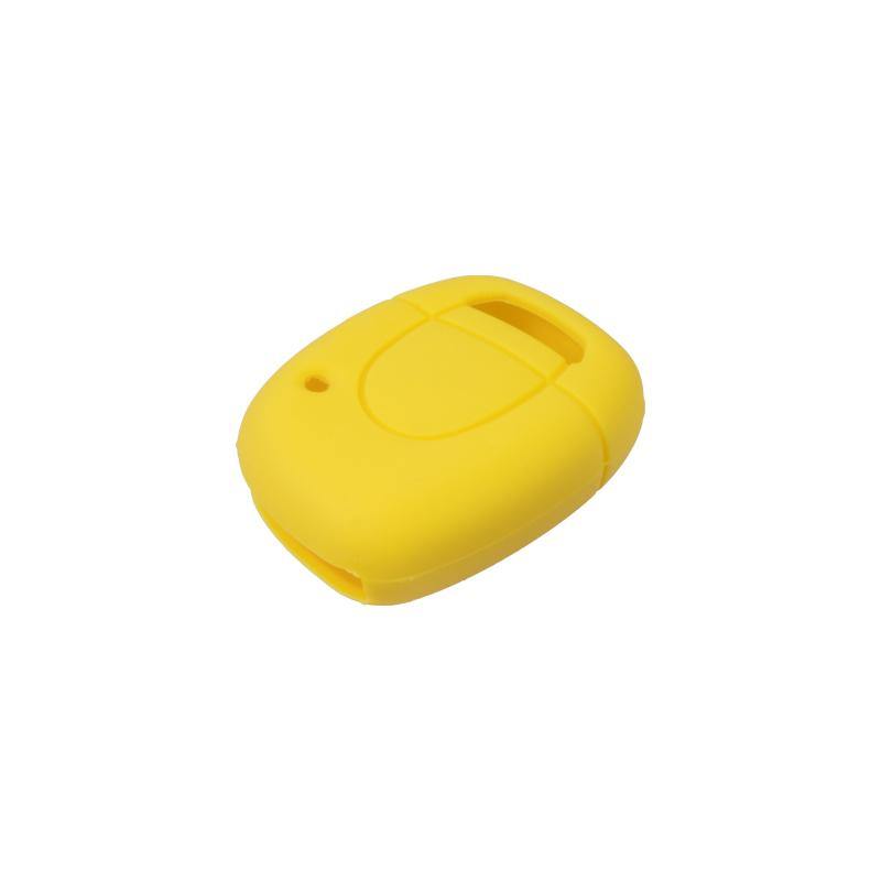 Silikonový obal pro klíč Renault, 1-tlačítkový, žlutý
