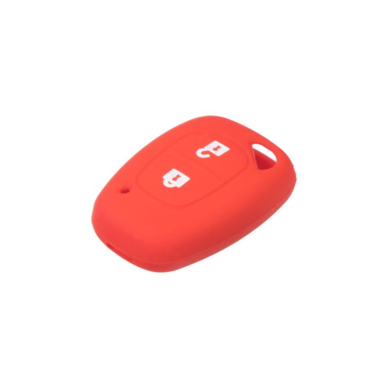 Silikonový obal pro klíč Renault, 2-tlačítkový, červený