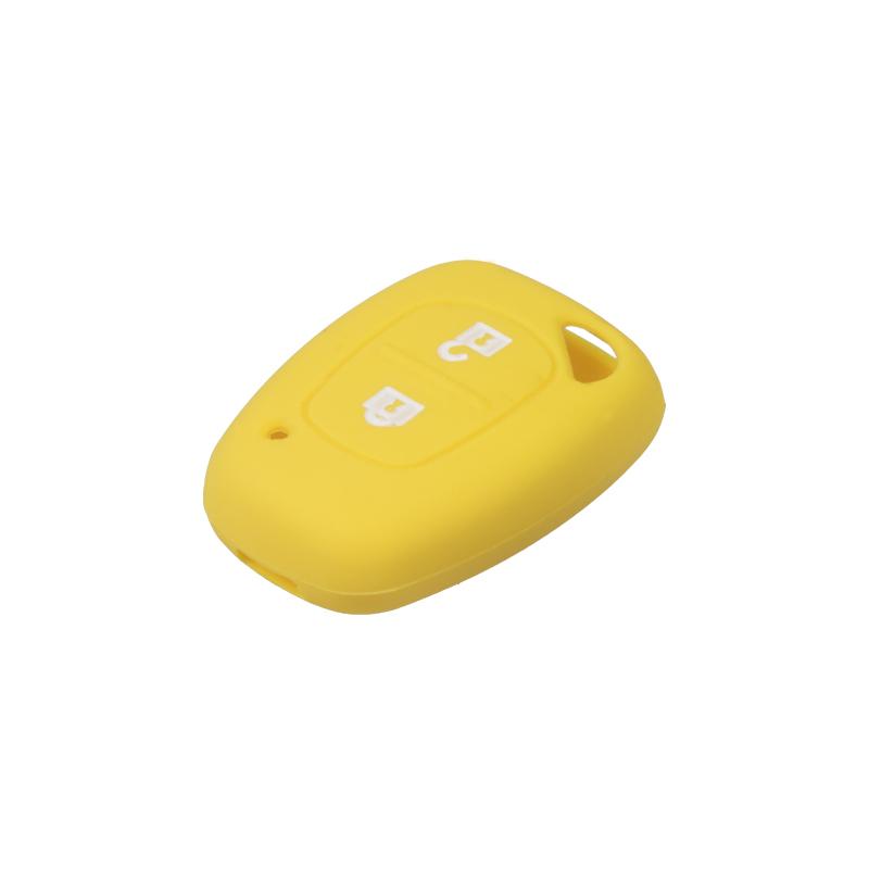 Silikonový obal pro klíč Renault, 2-tlačítkový, žlutý