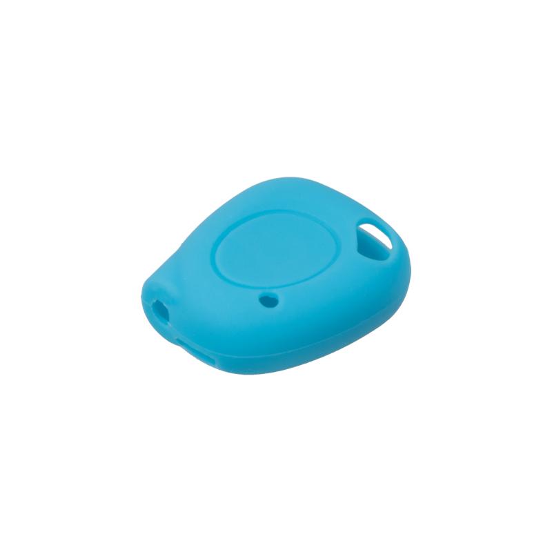 Silikonový obal pro klíč Renault, 1-tlačítkový, modrý