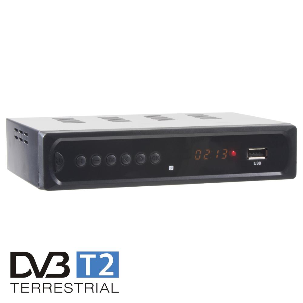 DVB-T2/HEVC/H.265 digitální tuner s USB / SCART / HDMI / RJ45
