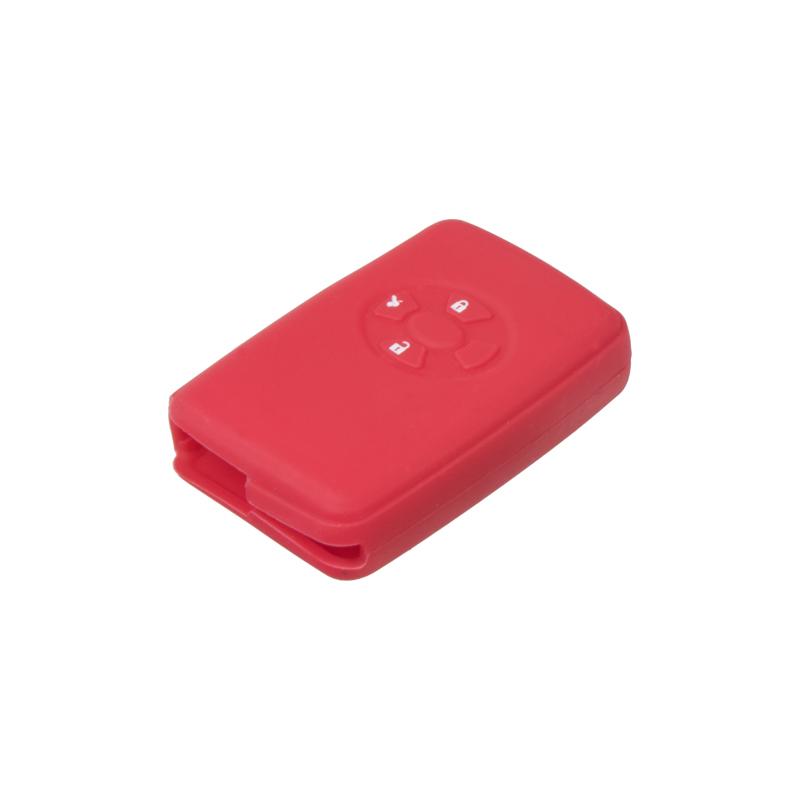 Silikonový obal pro klíč Toyota RAV 4, Corolla, Yaris 3-tlačítkový, tmavě červený