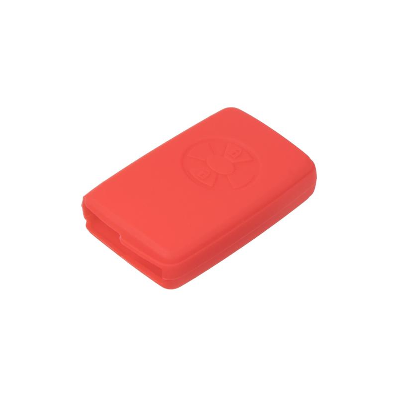 Silikonový obal pro klíč Toyota RAV 4, Corolla, Yaris 2-tlačítkový, světle červený