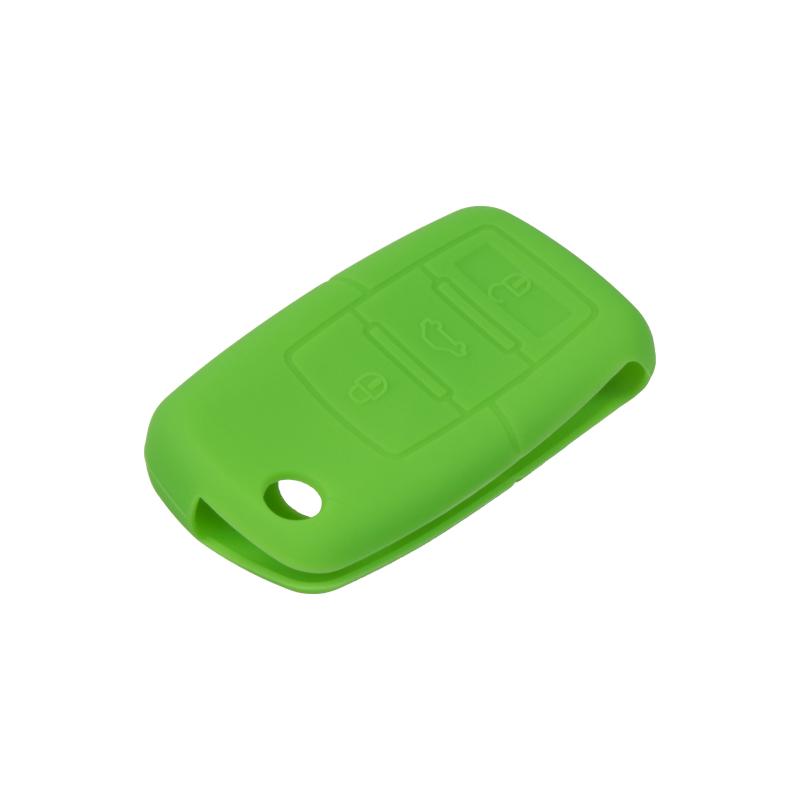 Silikonový obal pro klíč Škoda, VW, Seat 3-tlačítkový, tmavě zelený