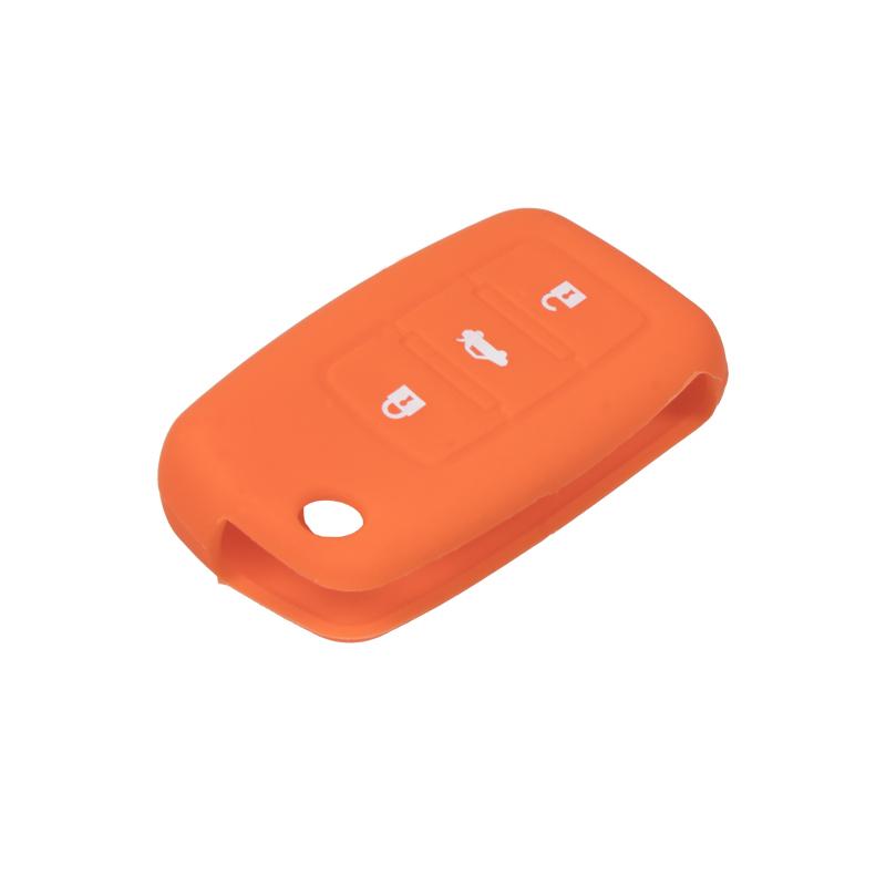 Silikonový obal pro klíč Škoda, VW, Seat, oranžový
