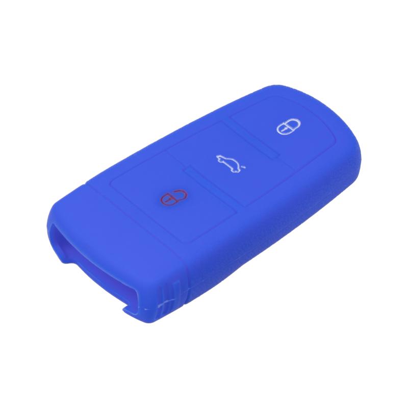 Silikonový obal pro klíč VW 3-tlačítkový, modrý