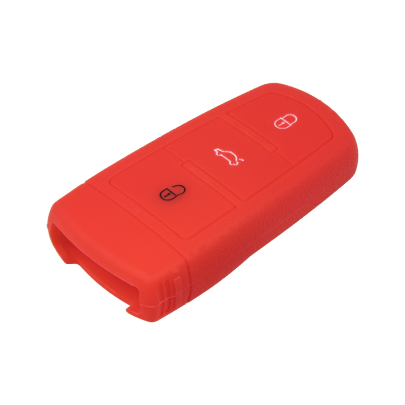Silikonový obal pro klíč VW 3-tlačítkový, červený