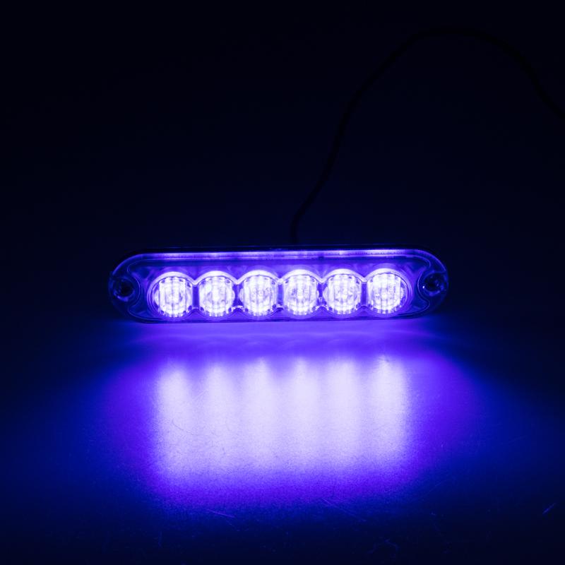 PREDATOR 6x3W LED, 12-24V, modrý, ECE R10
