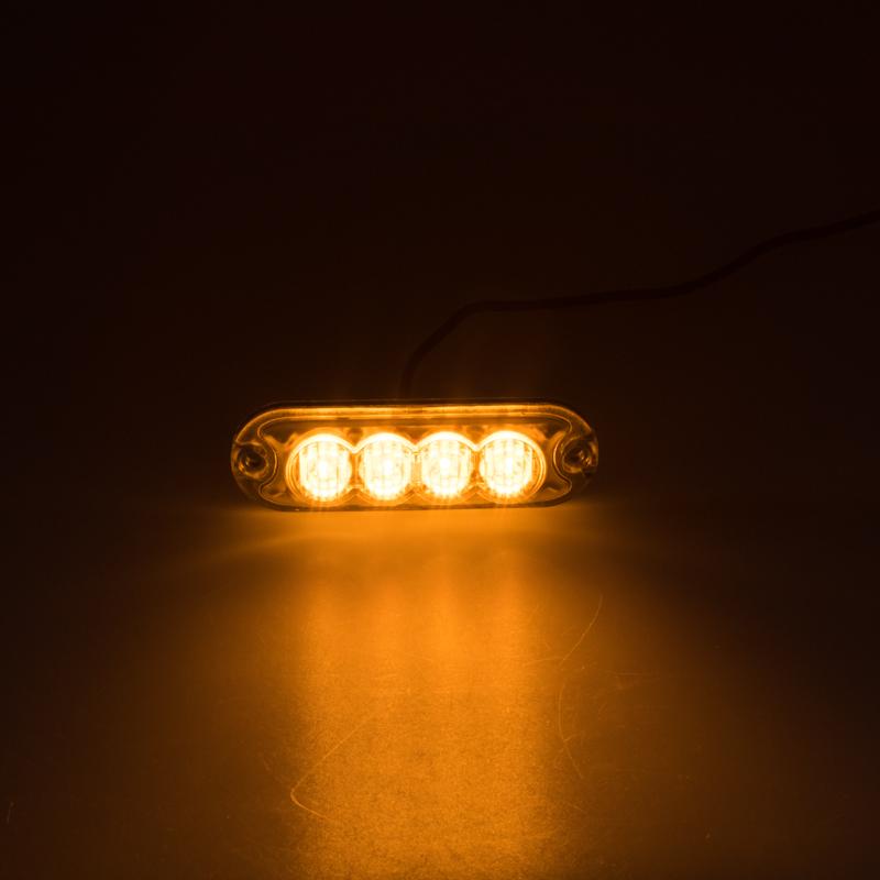 PREDATOR 4x3W LED, 12-24V, oranžový, ECE R65