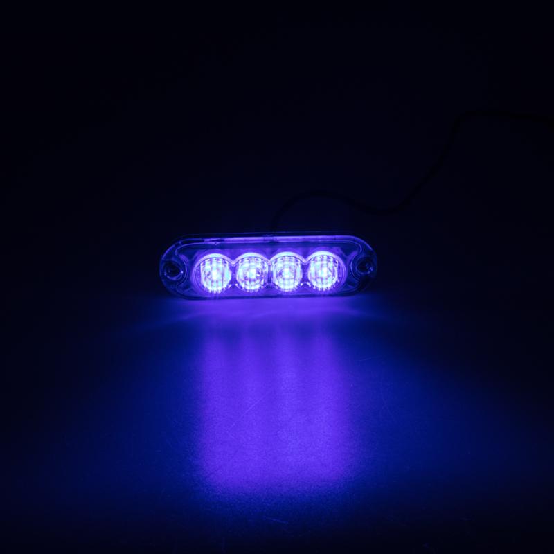 PREDATOR 4x3W LED, 12-24V, modrý, ECE R10