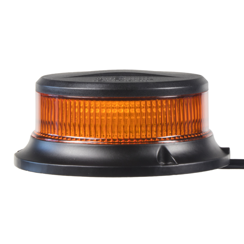 LED maják, 12-24V, 18x1W oranžový, magnet, ECE R65 R10