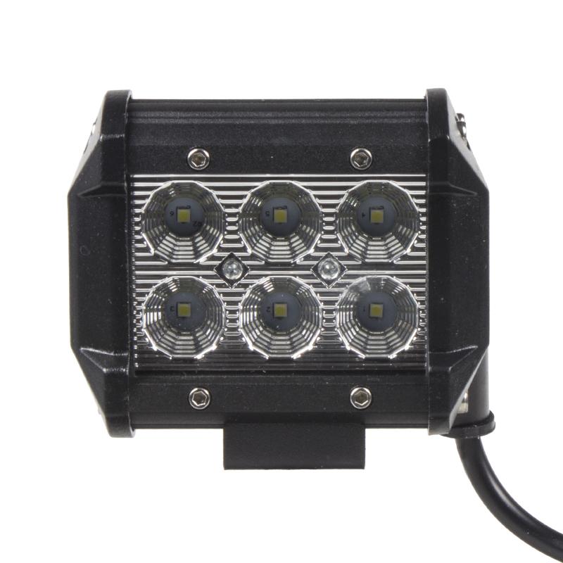 LED světlo 10-30V, 6x3W, rozptýlený paprsek, 95x80x65mm