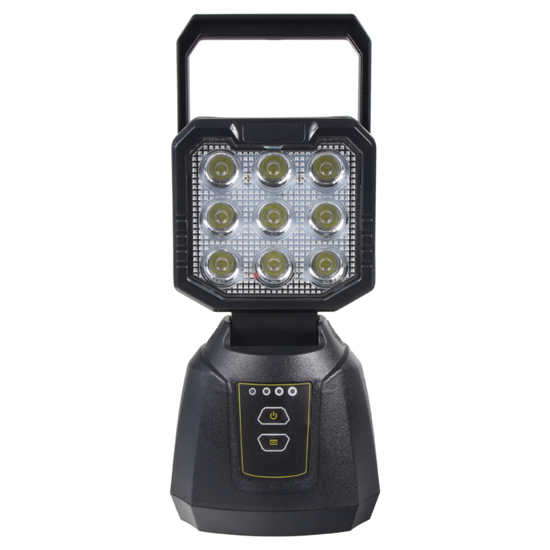 AKU pracovní LED světlo s magnetem 27W, powerbanka