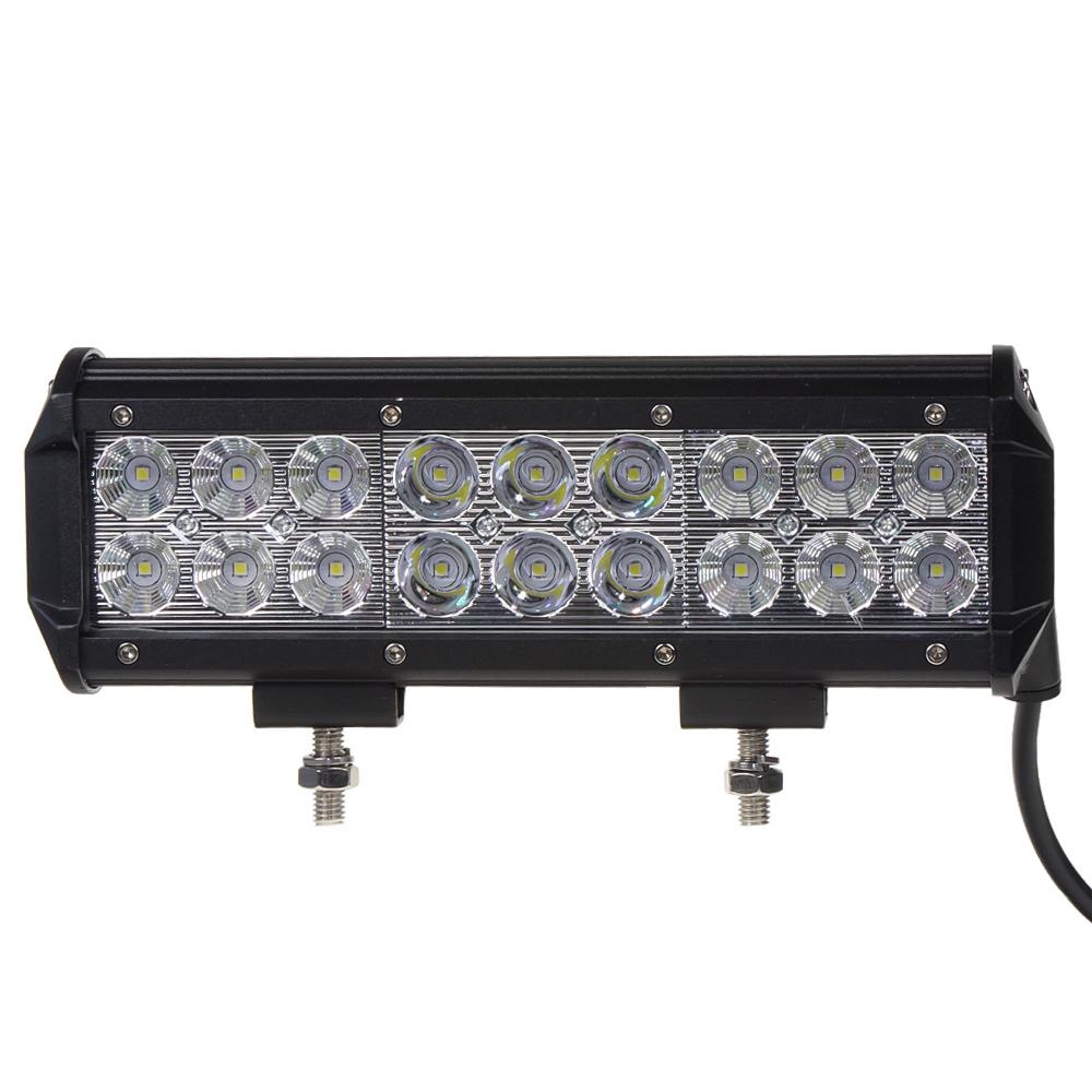 LED světlo 10-30V, 18x3W, rozptýlený + bodový paprsek, 231x80x65mm