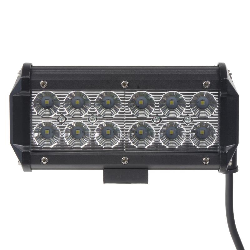 LED světlo 10-30V, 12x3W, rozptýlený paprsek, 163x80x65mm