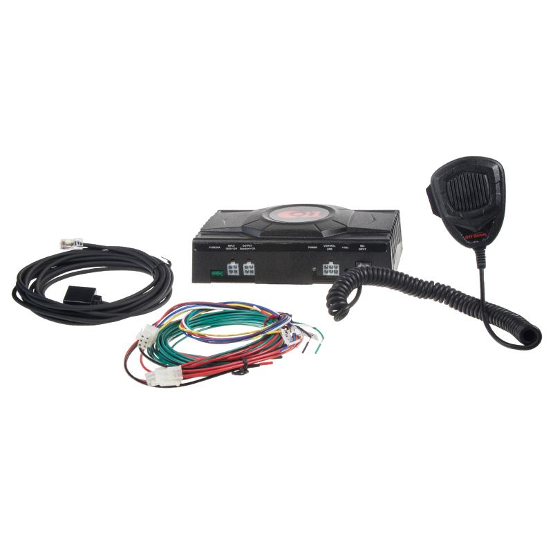 Profesionální výstražný systém s mikrofonem 100W, ECE R10