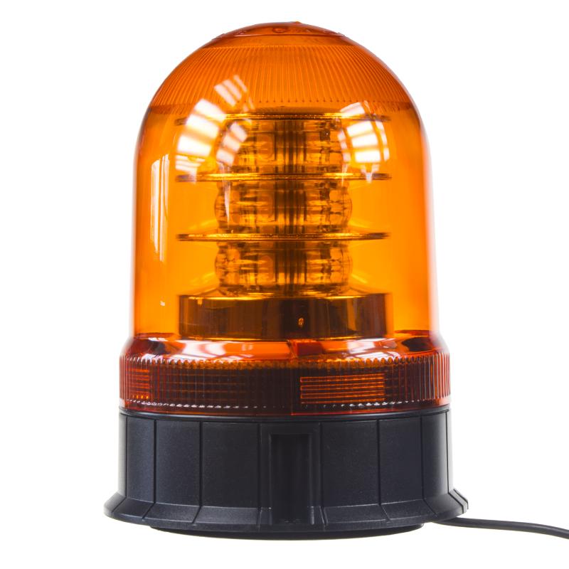 LED maják, 12-24V, 18x3W, oranžový magnet, ECE R65