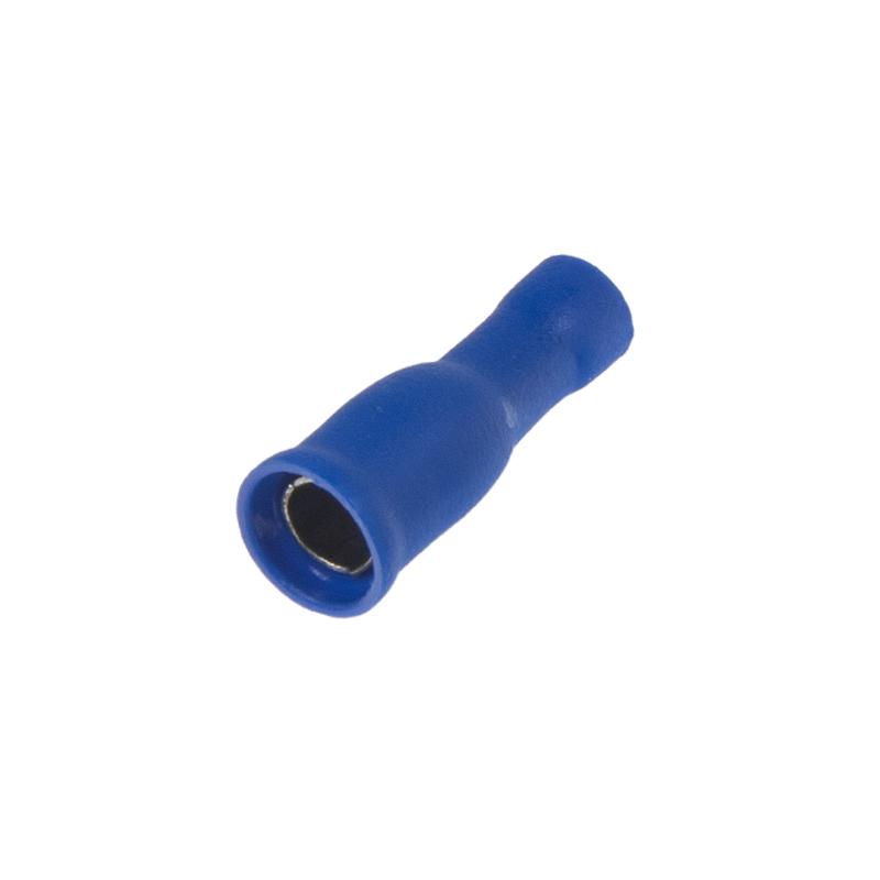 Objímka kruhová 5,0 mm modrá, 100 ks